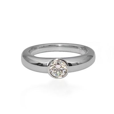 Prins & Prins  Modern Style Bezel Set Diamond Ring