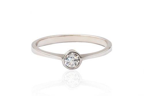 Modern Style Bezel Set Diamond Ring