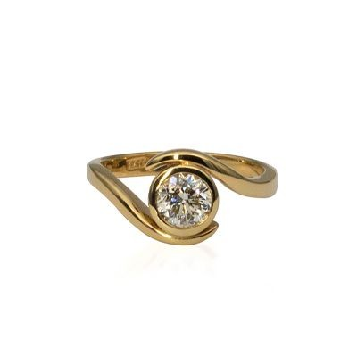 Yellow Gold Wave Design Ring