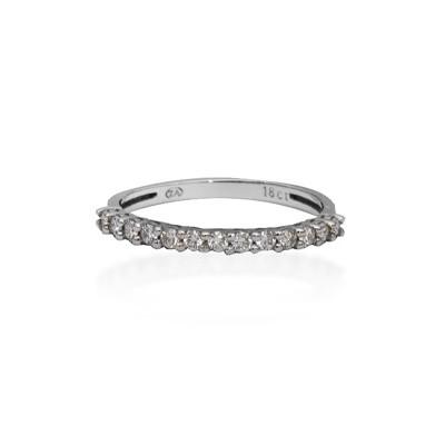 White Gold Half Eternity Diamond Ring