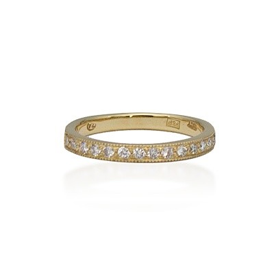 Yellow Gold Half Eternity Diamond Ring