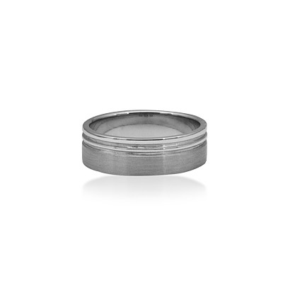 18ct White Gold Men's Ring