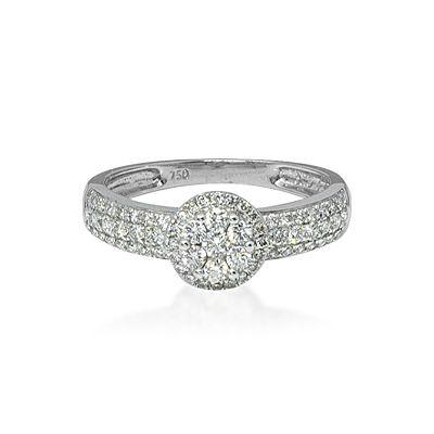 Halo Design Pave Set Diamond Ring
