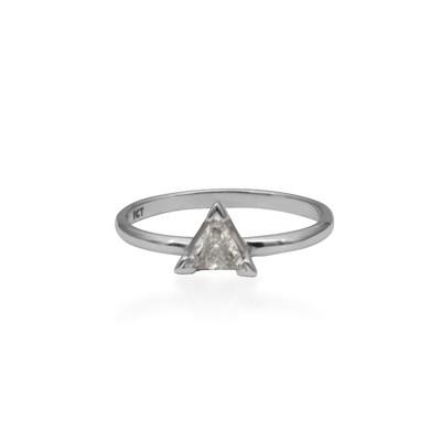 White Gold Diamond Stack Ring