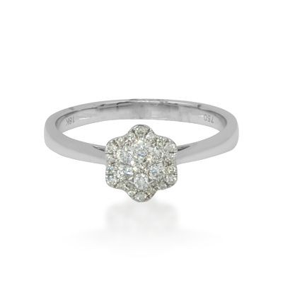 Miracle Diamond Flower Ring