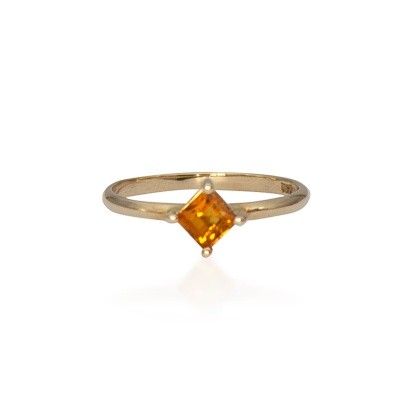 Yellow Gold Citrine Stack Ring