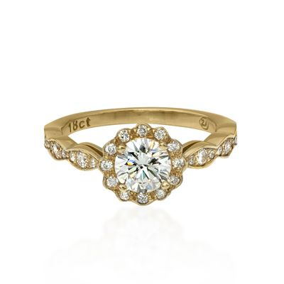 Antique Style Halo Ring