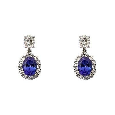 tanzanite earring