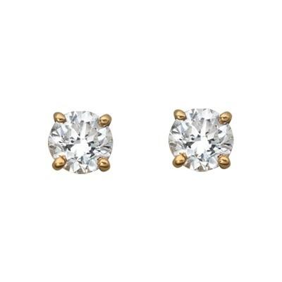 Prins Prins Yellow Gold Diamond Stud Earrings