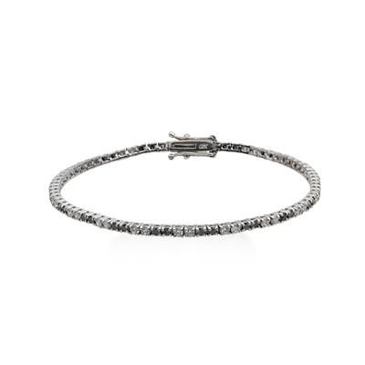 silver tennis braclet