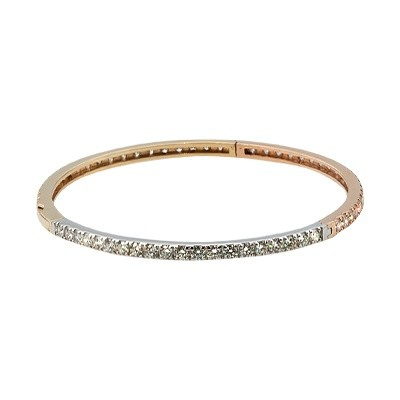 18ct Gold Diamond Bangle set with 3.61ct natural diamonds