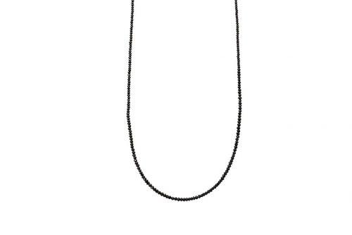 garnet string pendant
