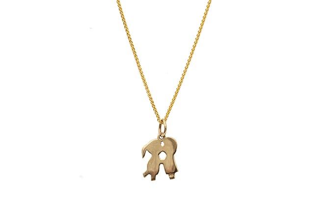 couple gold pendant