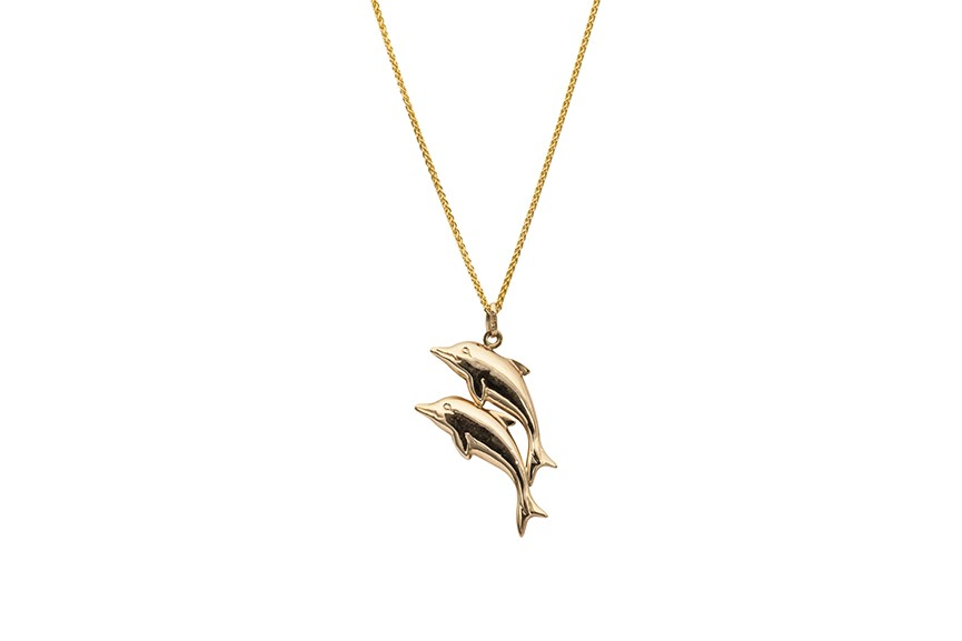 dolphins gold pendant