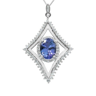 Tanzanite and Diamond Southern Star Pendant