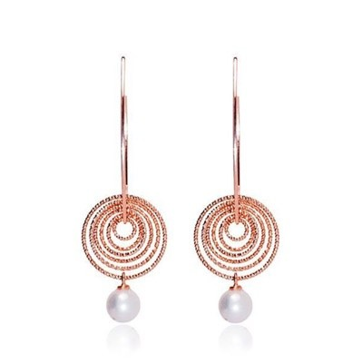 Parigi Con Perla earrings by Cici Collection .Made in 925 silver