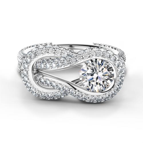 Forevermark Encordia® Solitaire Pavé Ring