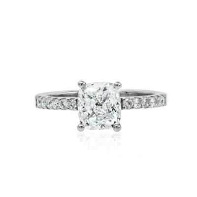 1.51ct G VS2 Cushion Cut Diamond Ring